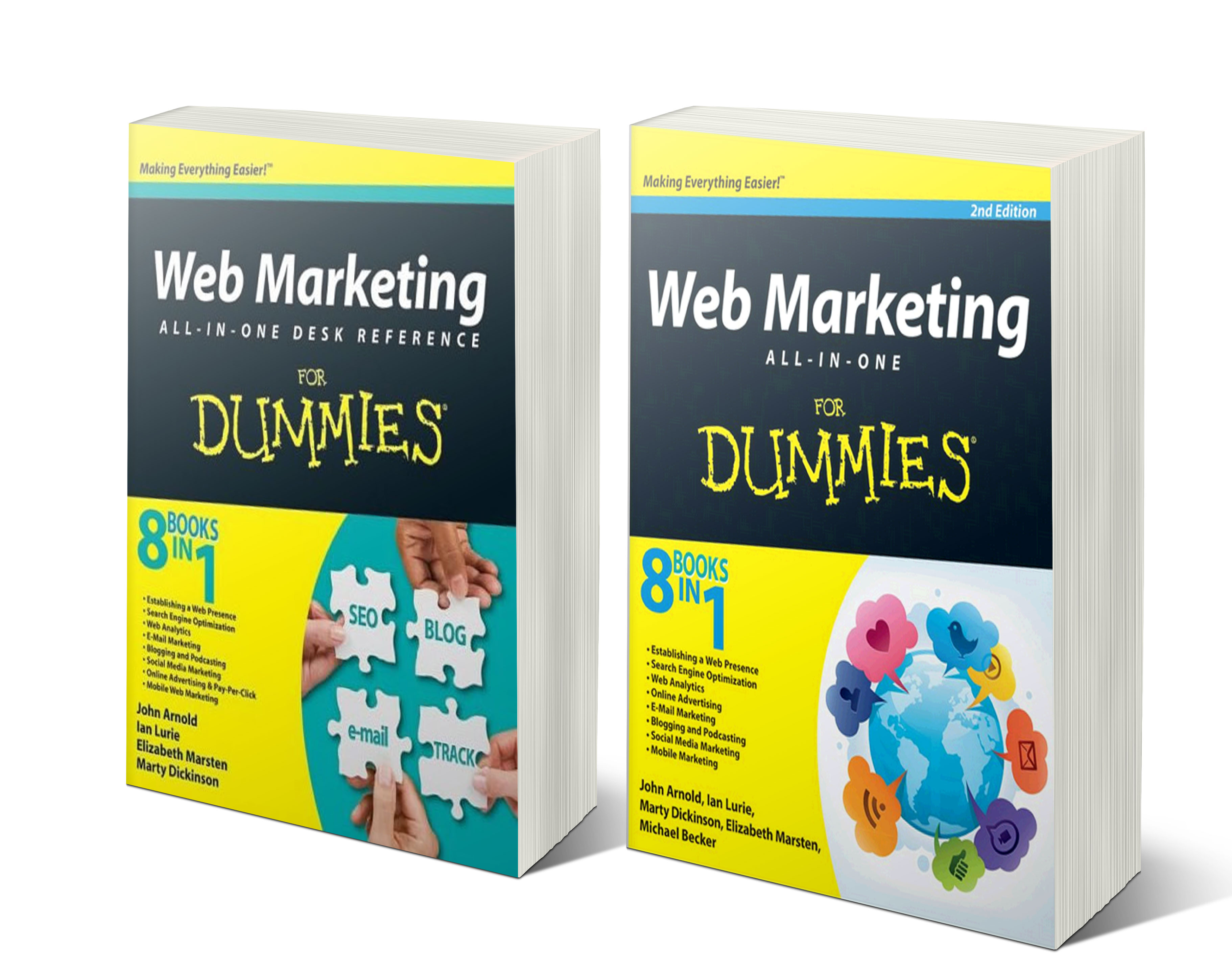 Web Marketing All-in-One for Dummies books by Here Next Year president, Marty Dickinson (Co-Author)