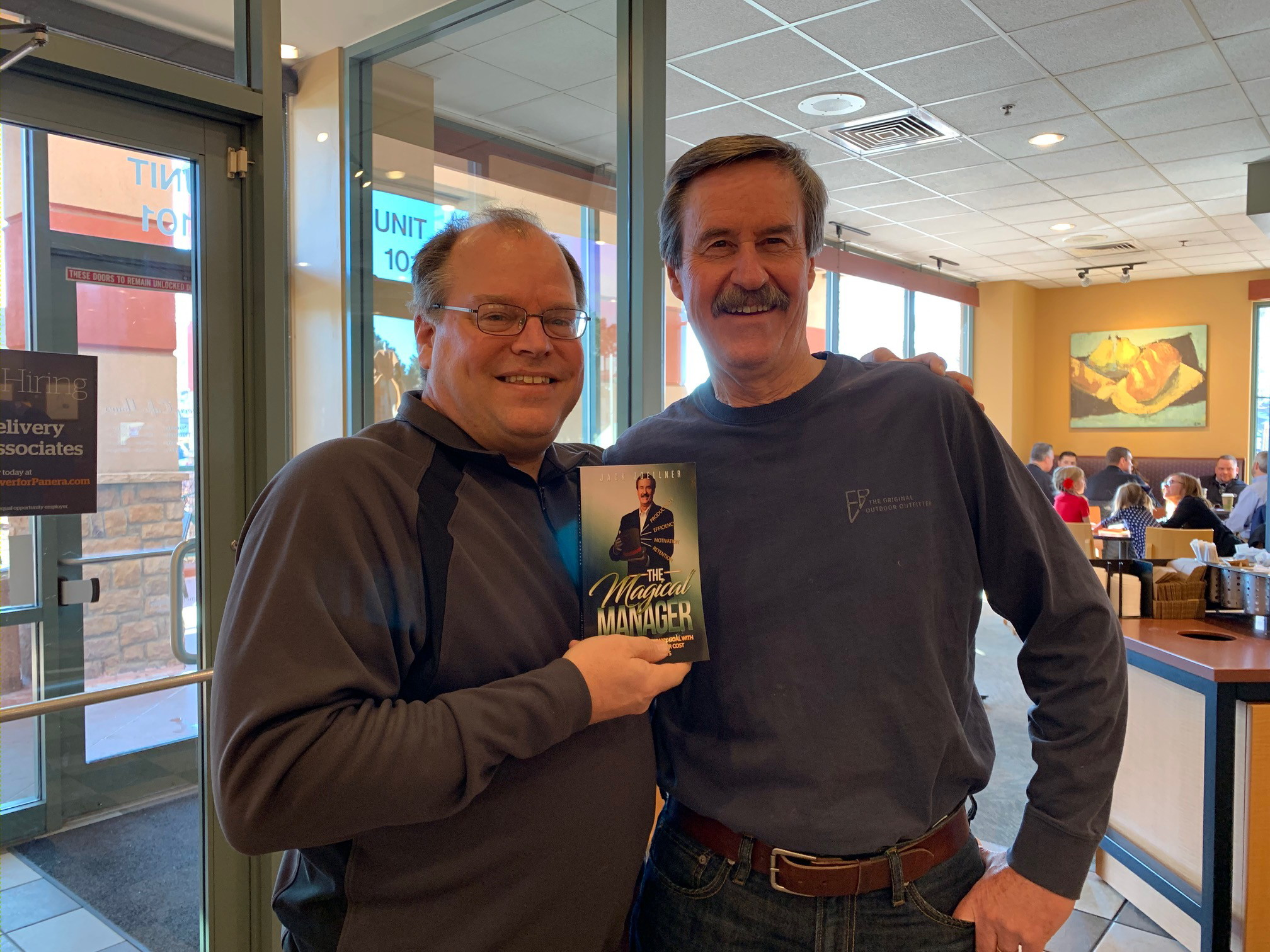 Marty Dickinson with author of The Magical Manager book, Jack Zoellner the relational leadership speaker