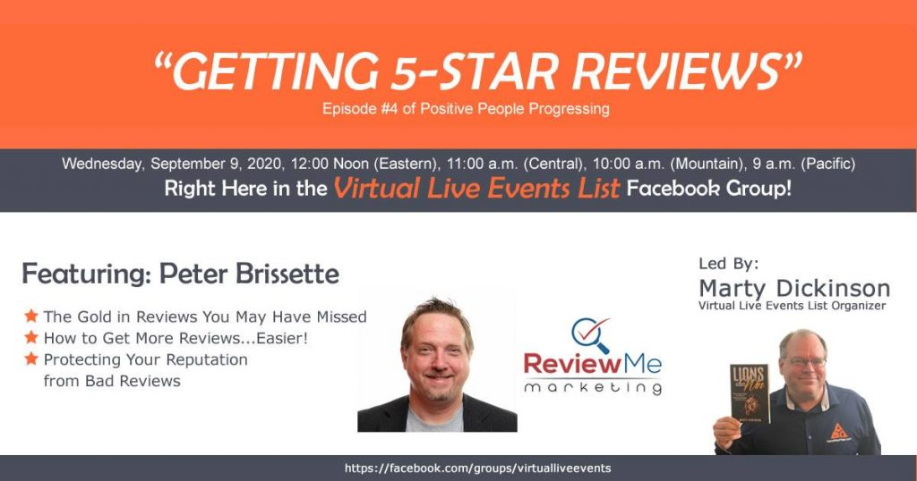 Positive People Progressing Show #4 with Peter Brissette about Business Reviews