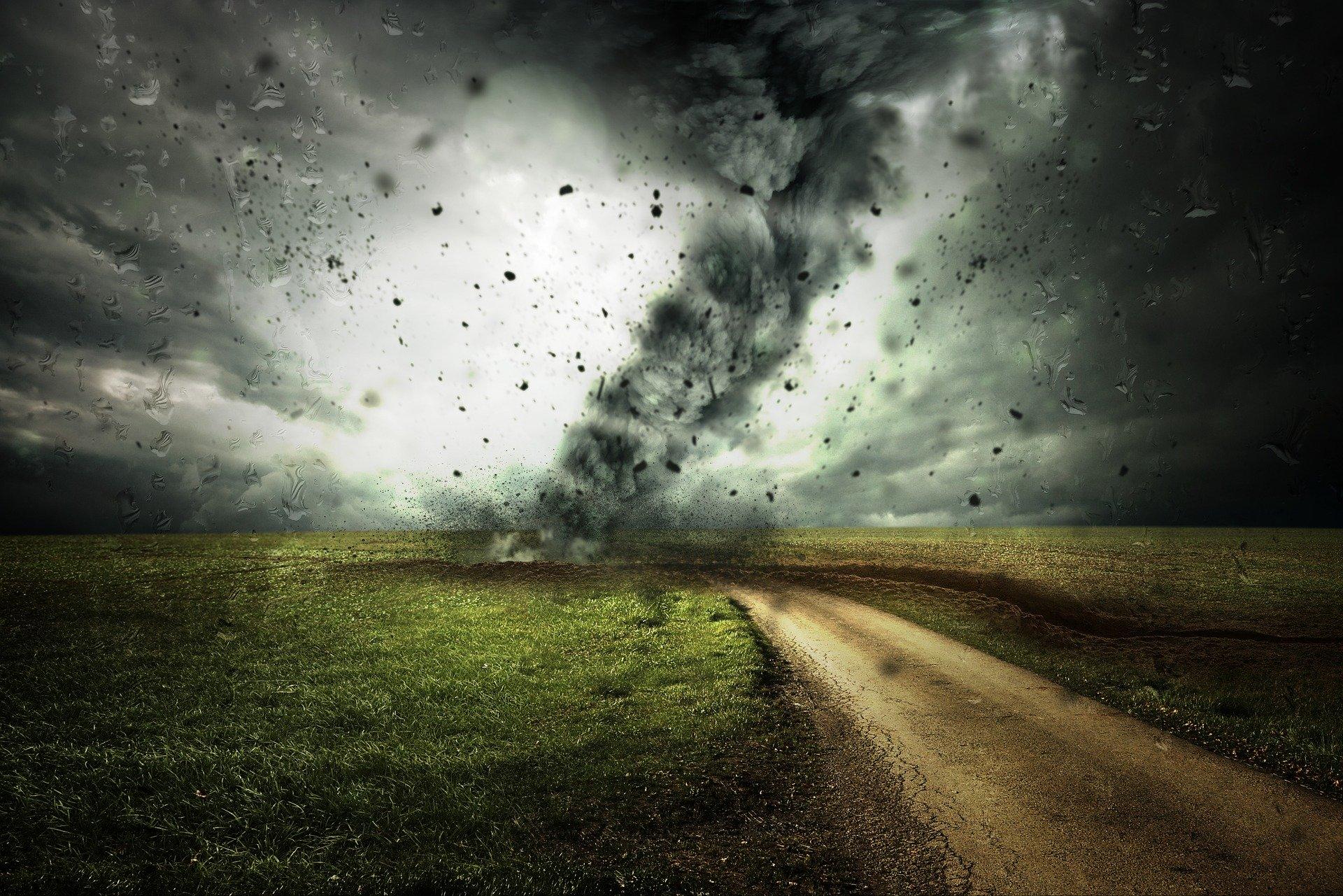 Tornado image representing business disaster