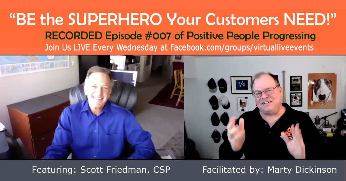 Recording of Scott Friedman, CSP, giving customer engagement tips and how to keep your customers happy