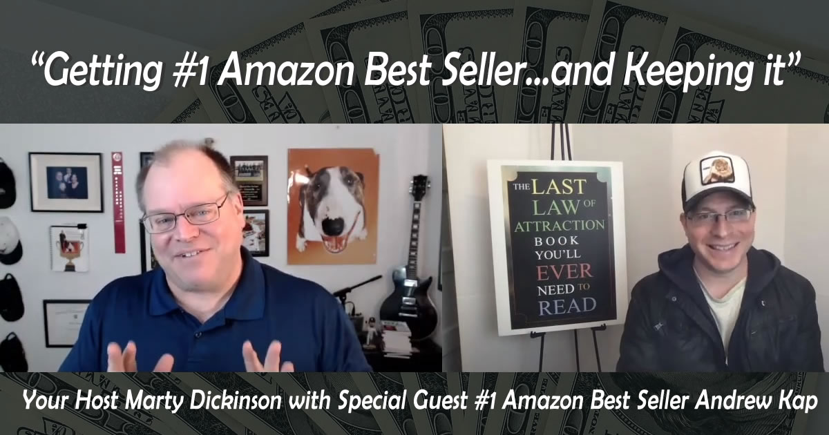 Amazon Best Seller book interview with author Andrew Kap, author of #1 Amazon Best Seller Book for a year.