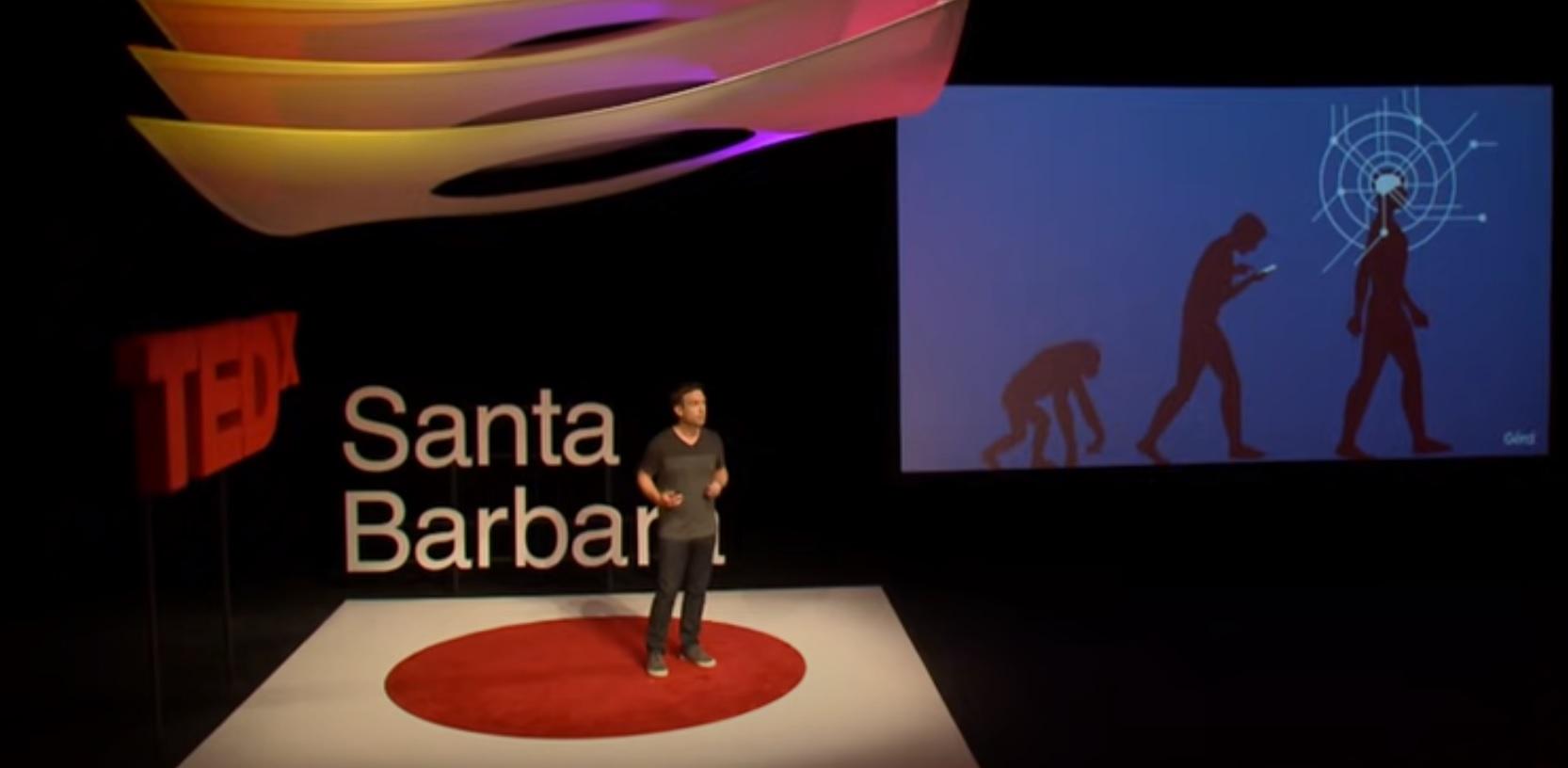 TEDx speaker on stage
